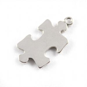 Charm School UK > Sterling Silver Charms > Hobbies > Jigsaw Piece
